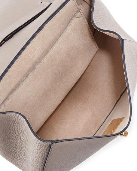 Drew Small Chain Saddle Bag, Motty Gray