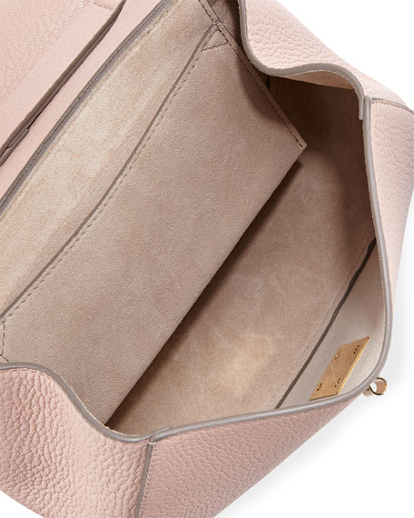 Chloe Drew Small Chain Saddle Bag, Cement Pink