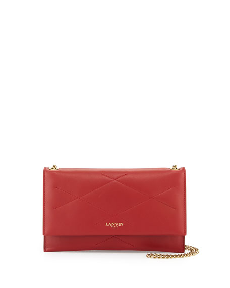 LanvinSugar Lambskin Wallet-On-Chain, Red