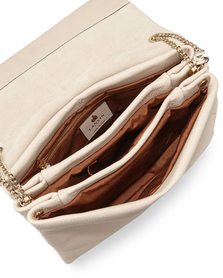 Sugar Medium Calfskin Shoulder Bag, Ivory