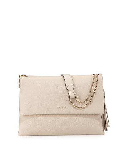 Sugar Medium Calfskin Shoulder Bag, Ivory