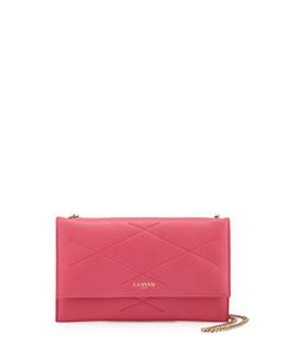 Sugar Lambskin Wallet-On-Chain, Bright Pink