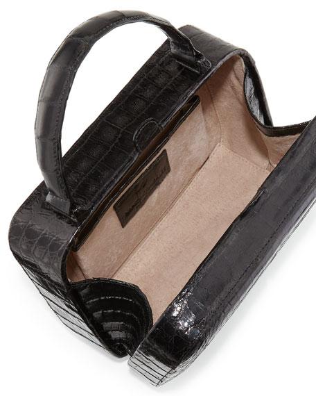 Crocodile Top-Handle Box Bag