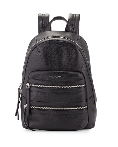 Marc JacobsLeather Biker Backpack, Black