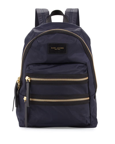 Nylon BIker Backpack, Midnight
