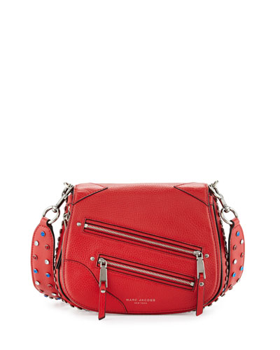 Pretty Young Thing Small Saddle Bag, Brilliant Red
