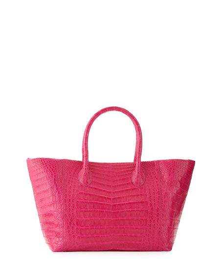 Nancy Gonzalez Crocodile Small Convertible Tote Bag, Pink