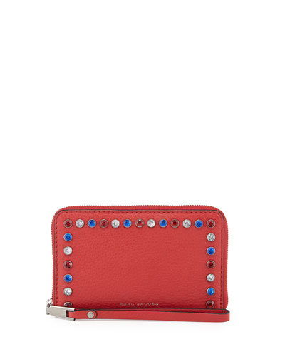 Pretty Young Thing Zip Phone Wallet, Red