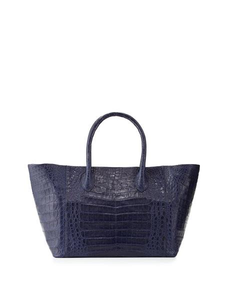 Nancy Gonzalez Crocodile Small Convertible Tote Bag, Royal