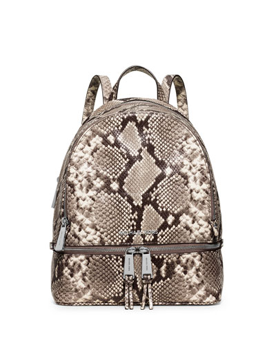 9fcc38759b7c MICHAEL Michael Kors Rhea Embossed Leather Backpack, Natural