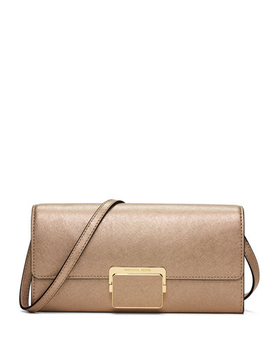 Cynthia Large Evening Clutch Bag, Pale Gold
