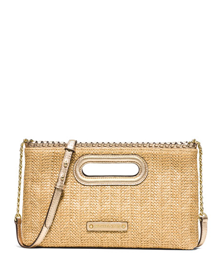 MICHAEL Michael Kors Rosalie Large Raffia Clutch Bag,