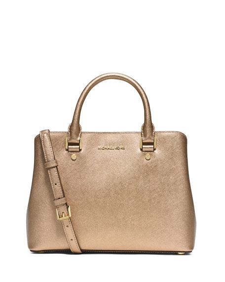 MICHAEL Michael Kors Savannah Medium Satchel Bag, Pale