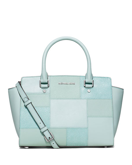 MICHAEL Michael Kors Selma Medium Tile Patchwork Satchel