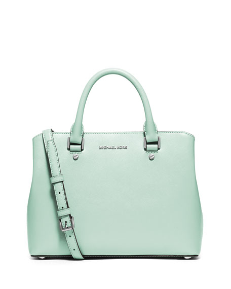 MICHAEL Michael Kors Savannah Medium Satchel Bag, Celadon