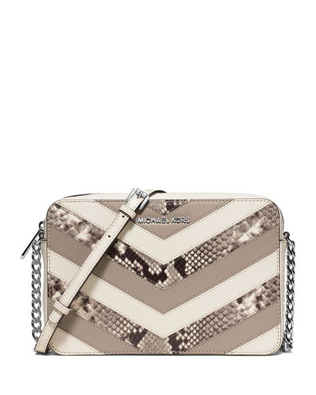 MICHAEL Michael Kors Jet Set Travel Large Chevron-Patchwork