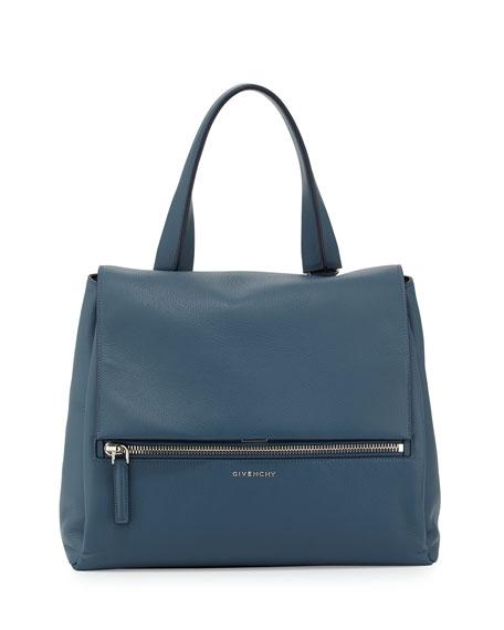 GivenchyPandora Pure Medium Leather Satchel Bag, Mineral Blue