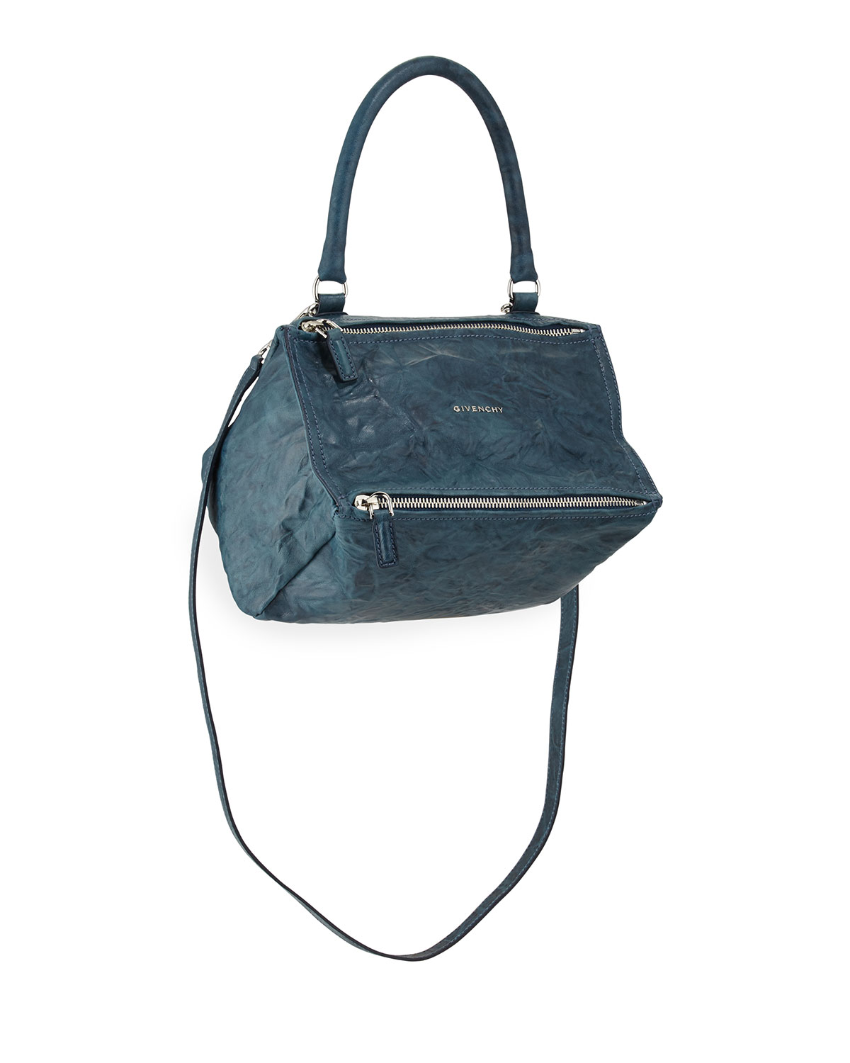 89a5a29a977 Givenchy Pandora Small Satchel Bag, Mineral Blue | Neiman Marcus