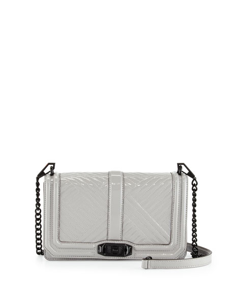 Rebecca Minkoff Love Patent Leather Crossbody Bag, Putty