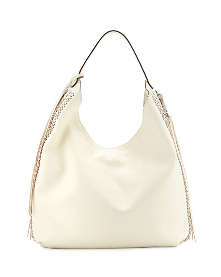Rebecca MinkoffBryn Leather Hobo Bag, Antique White