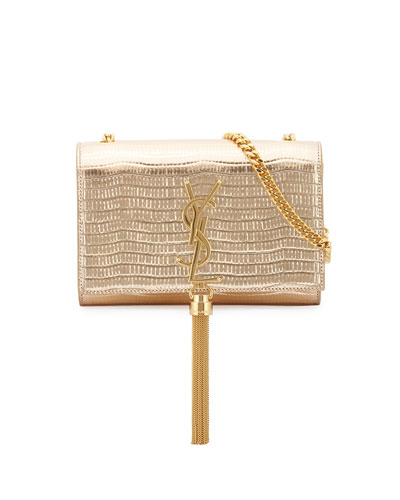 Monogram Grained Serpent Clutch Bag, Gold