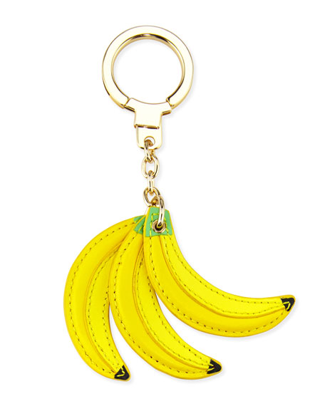 bananas key fob, yellow/multi