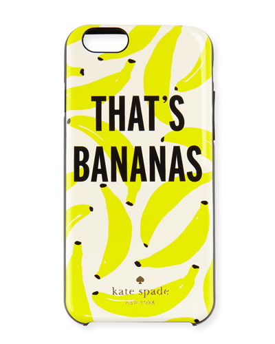 that's bananas iphone 6/6s case, cream/multi