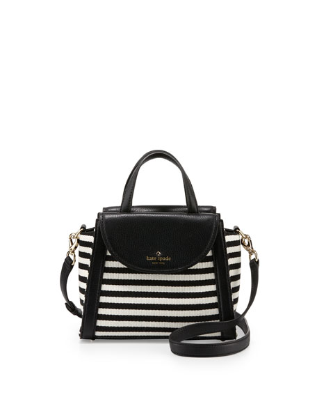 kate spade new yorksmall adrien leather-trim cobbile hill