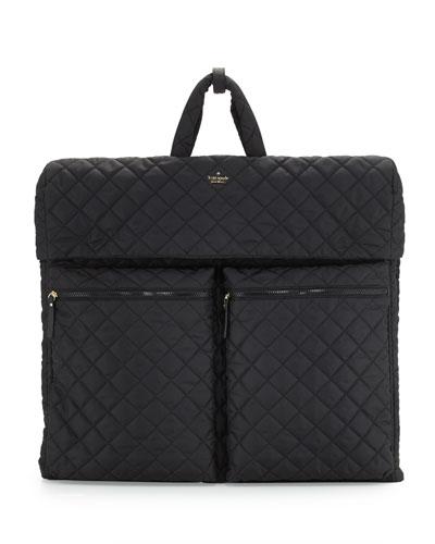 ridge street bessie garment bag, black