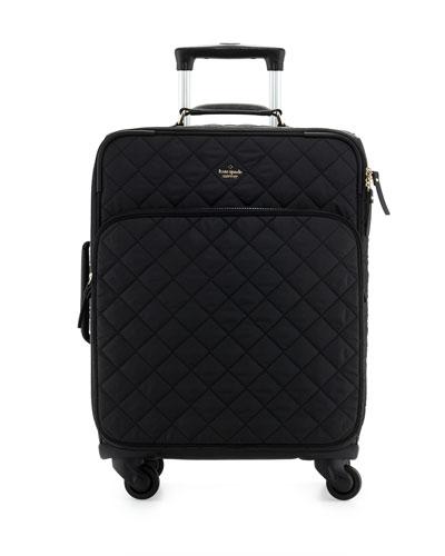 ridge street international carry-on suitcase, black