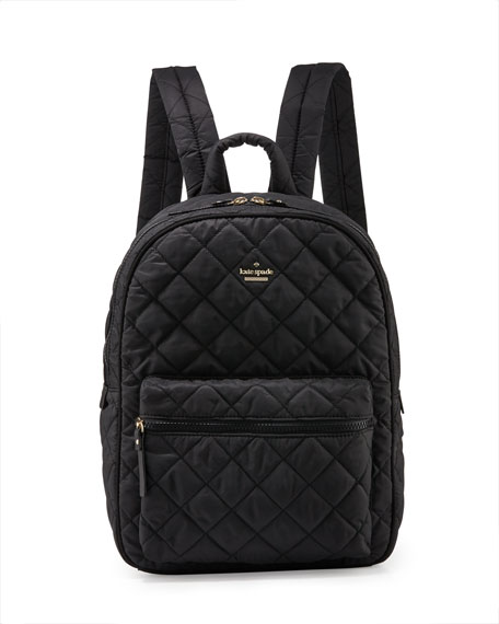ridge st. siggy quilted backpack, black