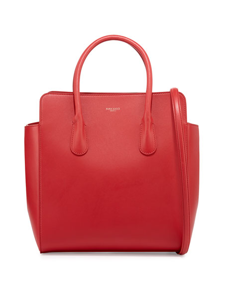 Nina Ricci Youkali North-South Tote Bag, Rouge Red