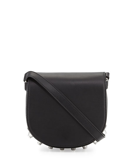 Alexander Wang Lia Mini Leather Saddle Bag, Black