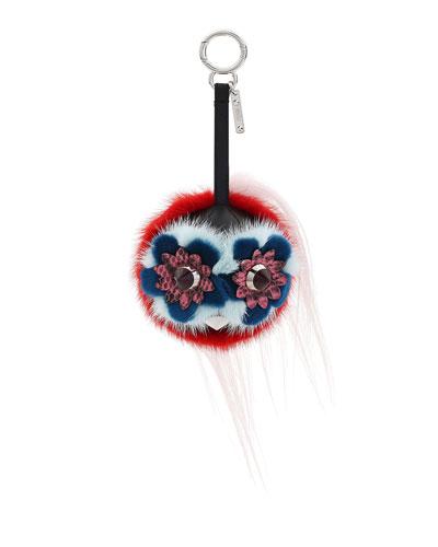 Monster Fur Charm for Handbag, Multi