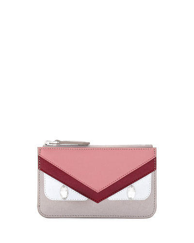 Monster Coin Case, Red/Pink/Taupe