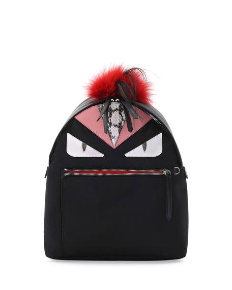 Fendi Monster Fur Mohawk Backpack, Black Multi