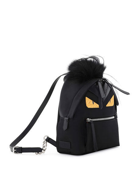 Mini Monster Mohawk Backpack, Black