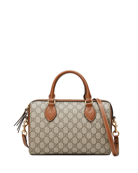 GG Supreme Small Top-Handle Bag, Beige