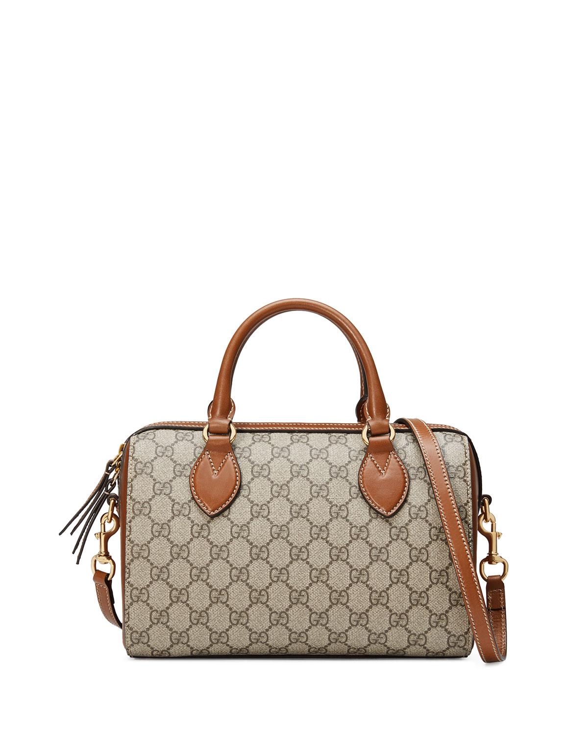 ecdf91a4c3a54b Gucci GG Supreme Small Top-Handle Bag, Beige | Neiman Marcus