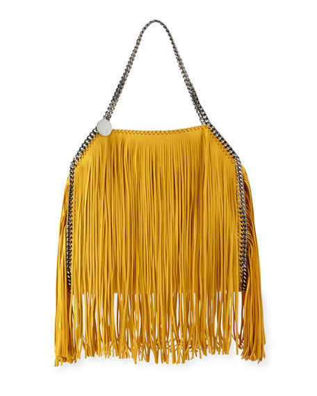 Stella McCartney Falabella Small Fringe Tote Bag, Sun
