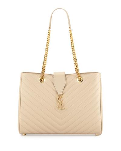 Monogram Matelasse Large Shopper Bag, Beige