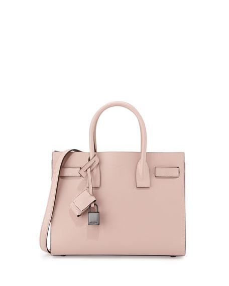Saint Laurent Sac de Jour Baby Satchel Bag, Pale Pink