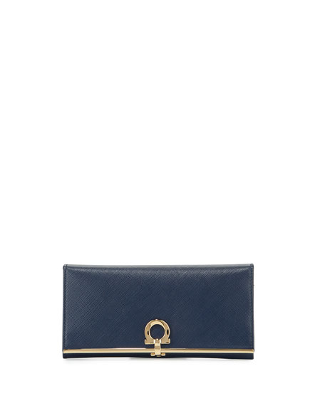 Salvatore Ferragamo Icona Continental Wallet, Oxford Blue