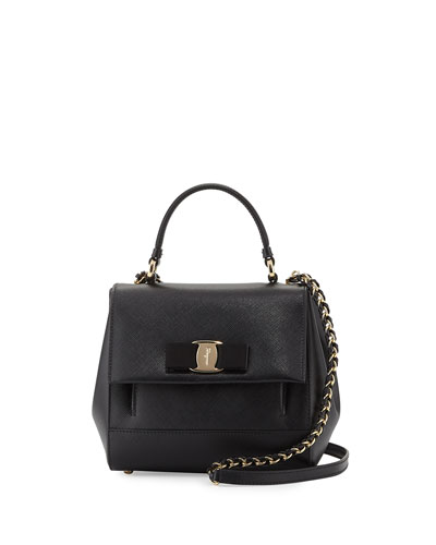 Carrie Vara Small Satchel Bag, Nero