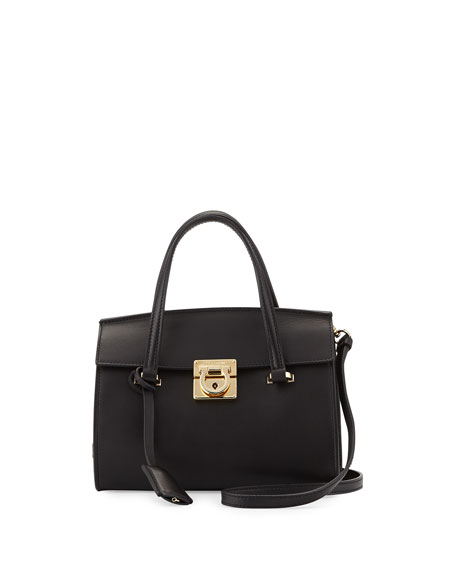 Salvatore Ferragamo Mara Lock Story Mini Crossbody Bag,