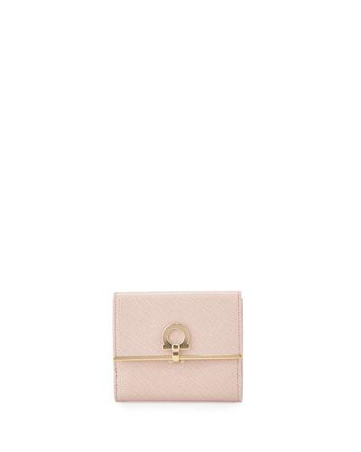 Icona Saffiano French Wallet, Bonbon