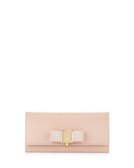 Miss Vara Bow Clip Saffiano Wallet, Bonbon