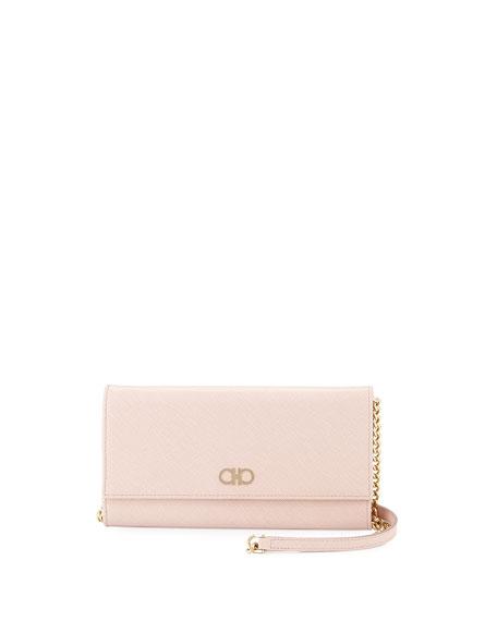 Salvatore Ferragamo Gancini Icona Mini Wallet-On-Chain Bag,