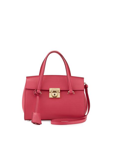Salvatore Ferragamo Mara Lock Story Mini Satchel Bag,