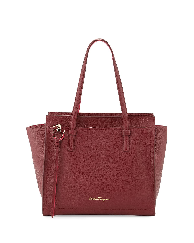 d86f37e041 Salvatore Ferragamo Amy Medium Gancio Leather Tote Bag